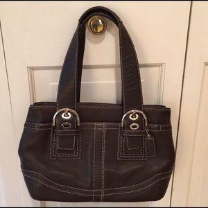 COACH Chocolate Brown Handbag Purse brand NEW cond